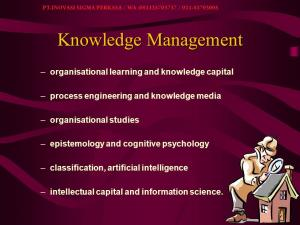 Knowledge Management - Basic, Sistem Management , Strategi
