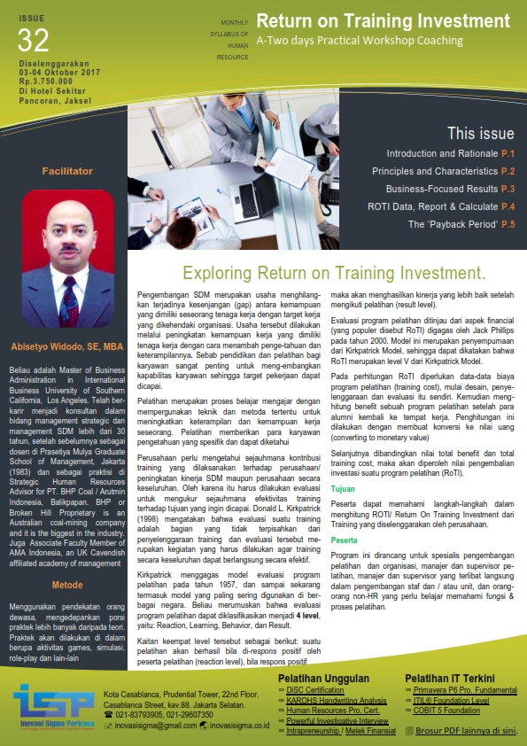 Return on Training Investment